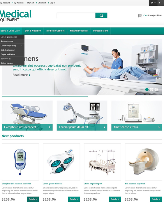 medical magento themes 2