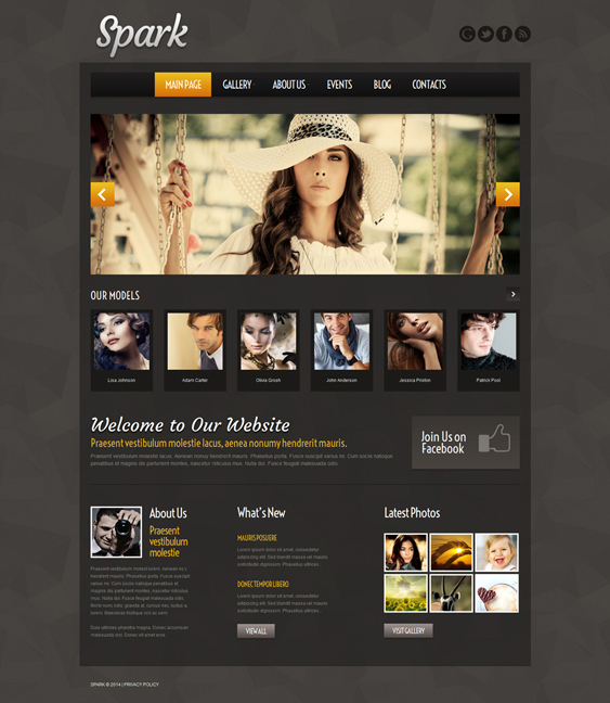 model dark wordpress themes