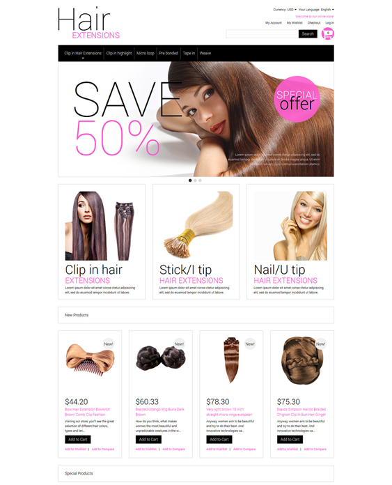 multipurpose hair beauty magento themes