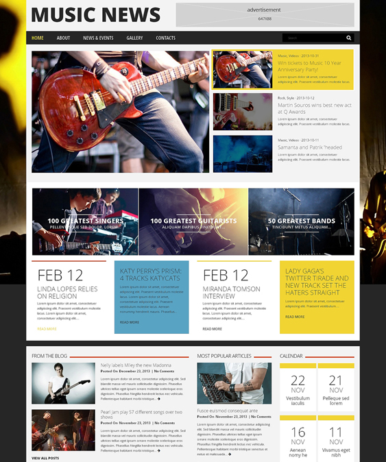music wordpress theme fan
