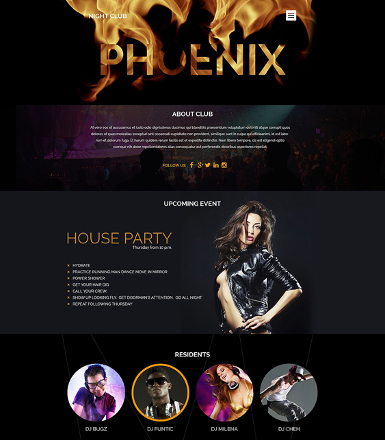 night club1 dark wordpress themes