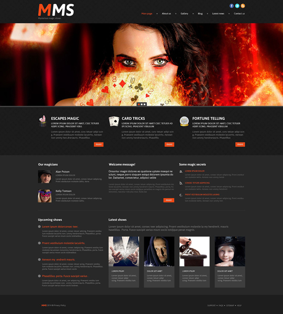 online casino1 dark wordpress themes