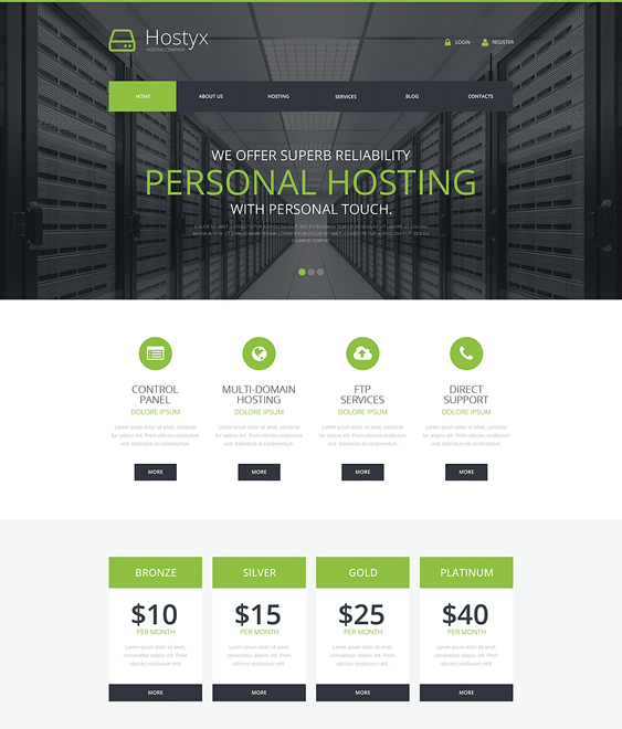 reliable web hosting wordpress themes