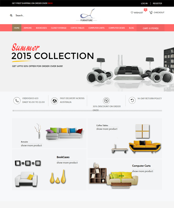responsive furniture magento themes 1
