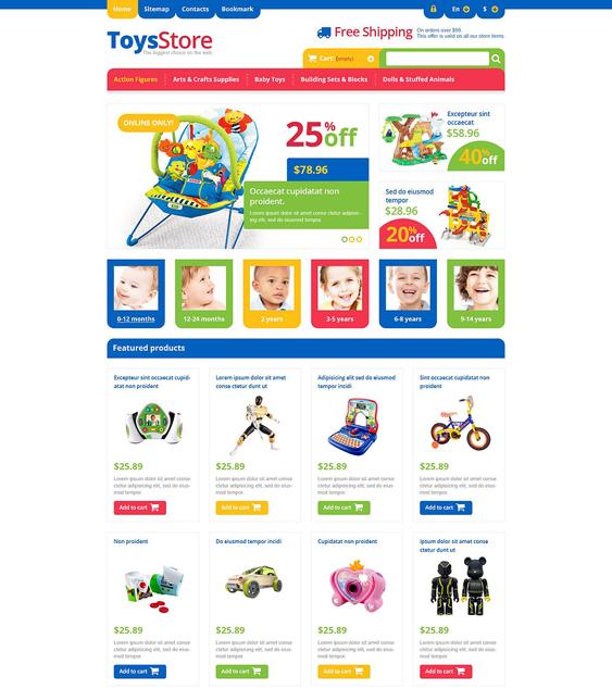 responsive toys kids prestashop themes