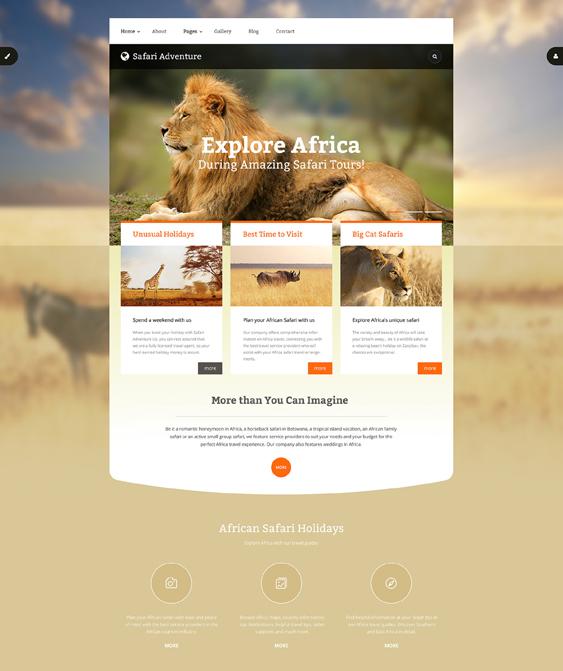 safari travel tourism joomla templates