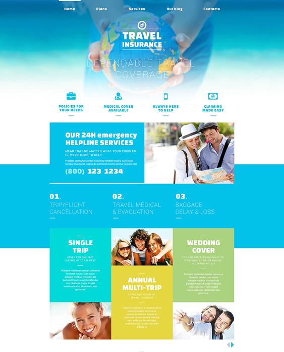 safe travel insurance joomla templates