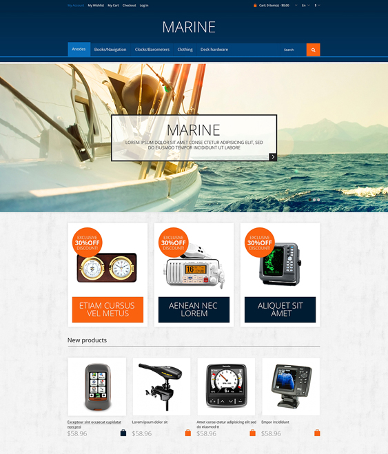 sailor sports fitness magento themes