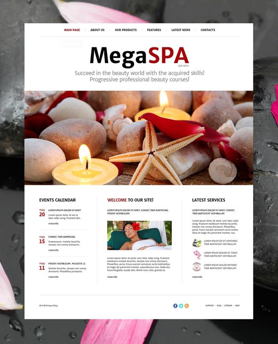 beauty salon spa joomla templates