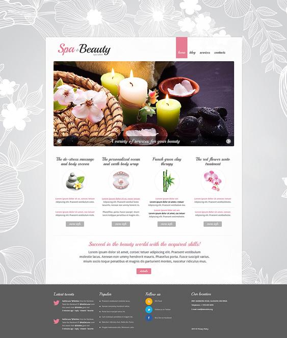 beauty salon spa joomla templates procedures