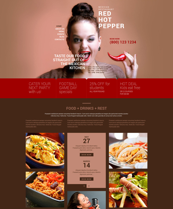 spicy mexican restaurant wordpress themes