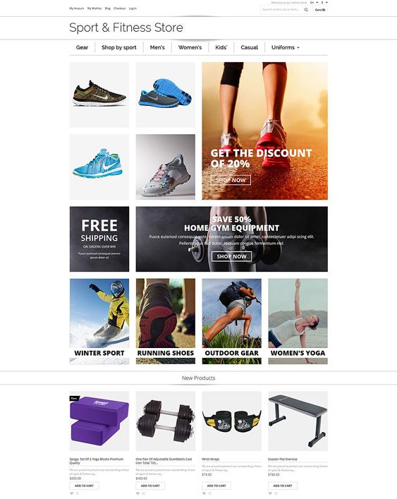 sports minimal magento themes 1