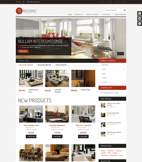 tb mozanis interior design drupal themes