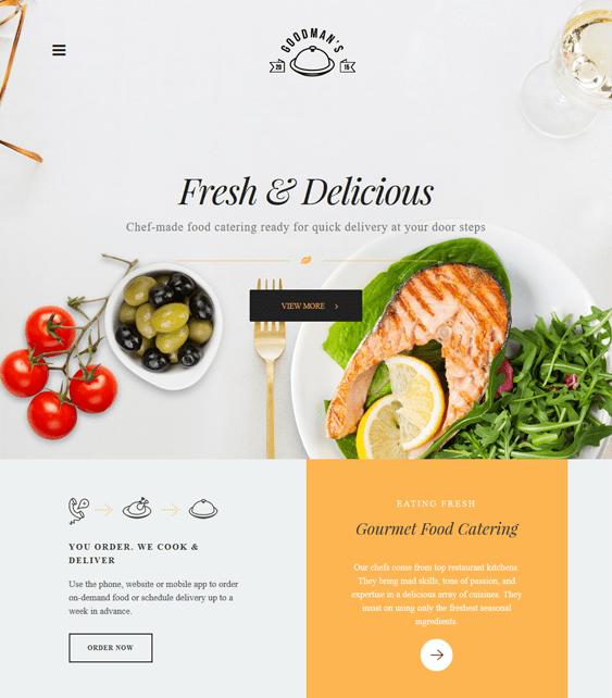 the core restaurant wordpress themes