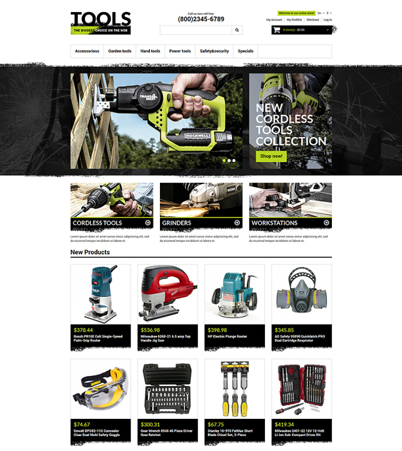 tools1 hardware home improvement magento themes