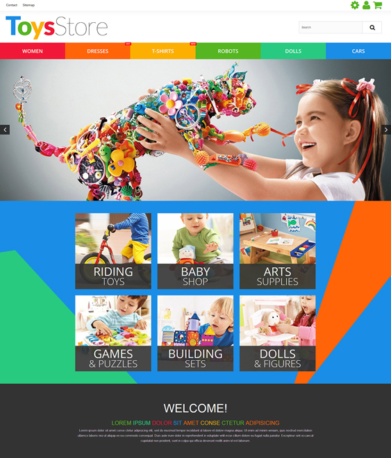 toy store kids prestashop themes
