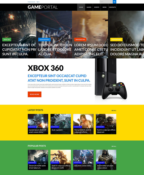 video gaming wordpress themes