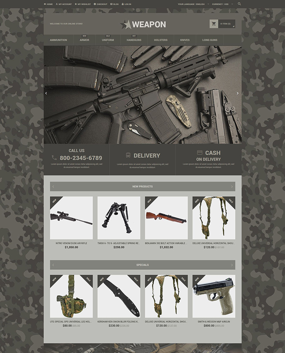 weapon dark magento themes