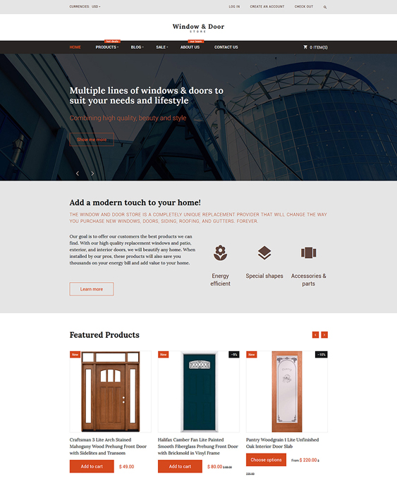 windows clean shopify themes