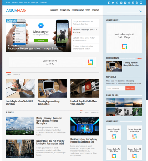 aquamag news magazine wordpress themes
