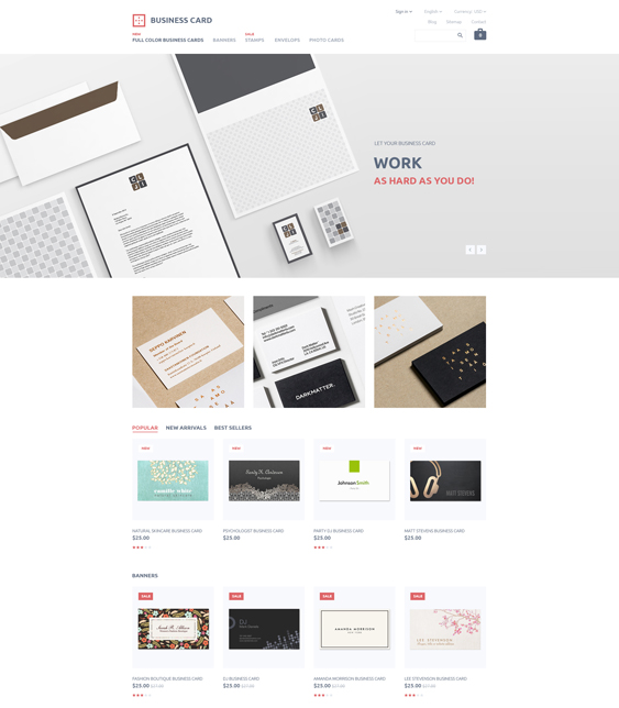 business minimal magento themes
