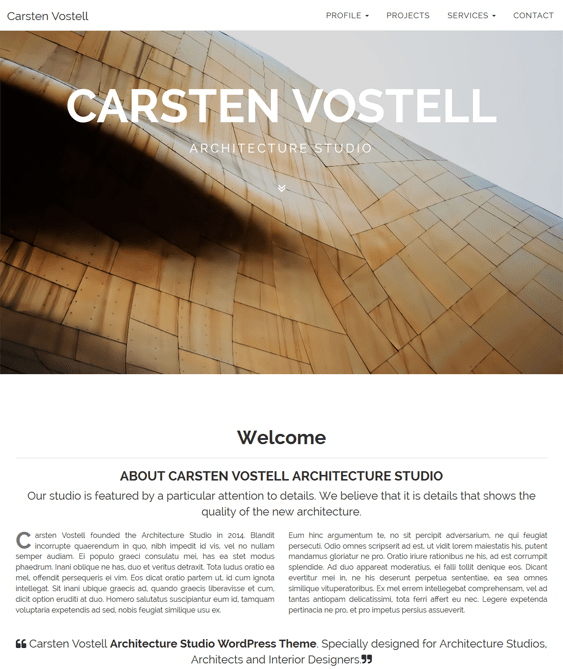 carsten architect wordpress themes