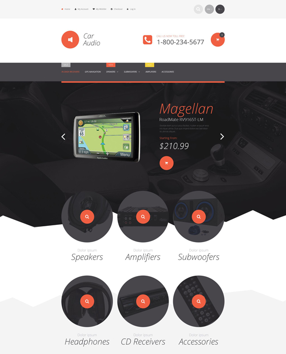 car stereo magento themes electronic stores