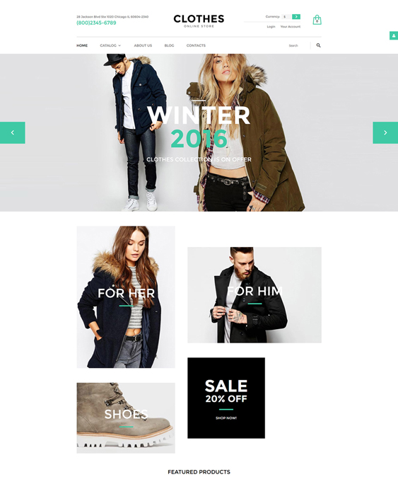 clothes responsive virtuemart themes