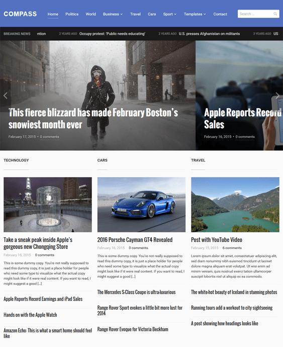 compass news magazine wordpress themes