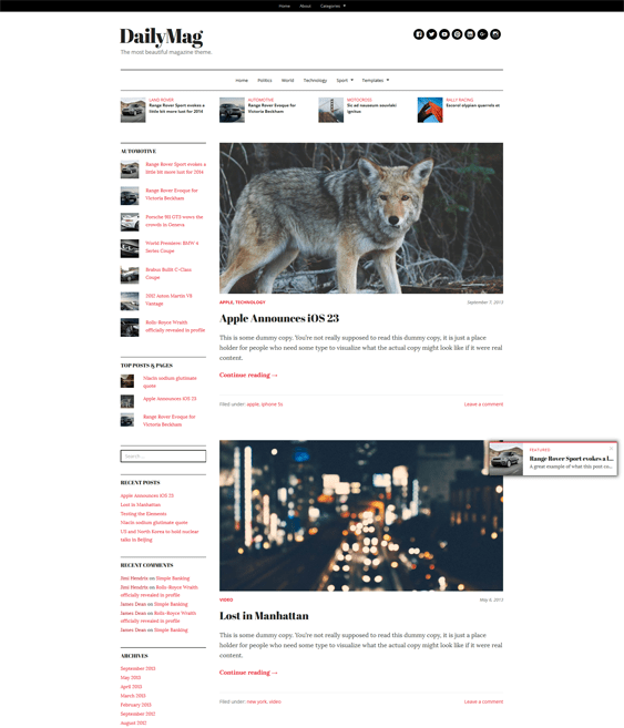 dailymag magazine news wordpress themes