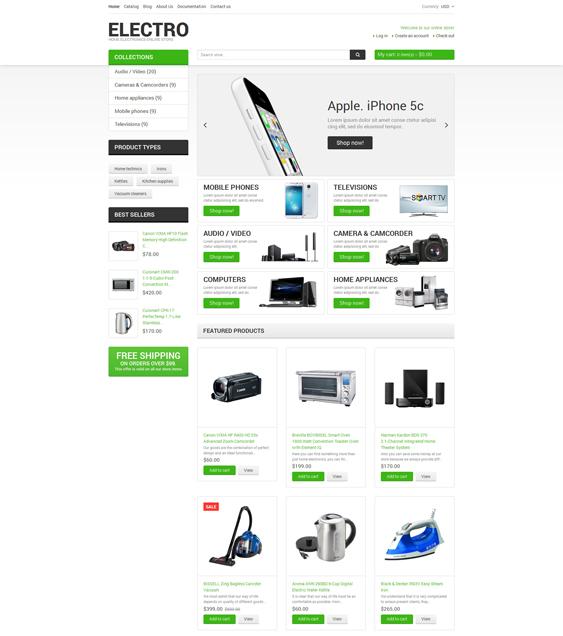 electronics shopify themes