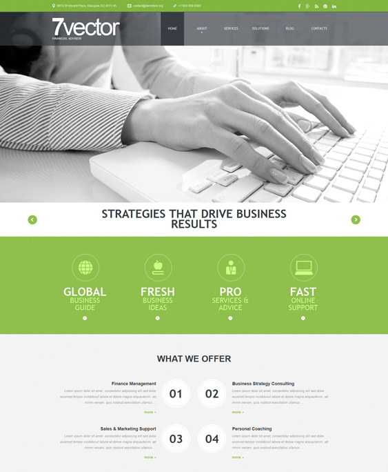 experienced financial joomla templates