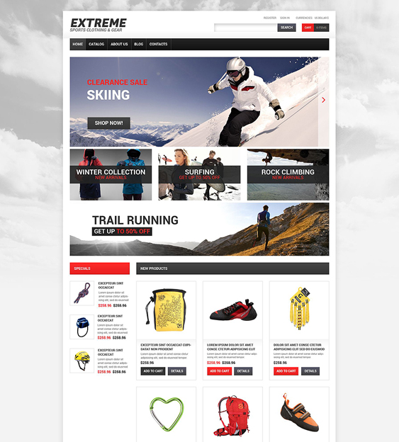 extreme shopify themes outdoor goods camping equipment
