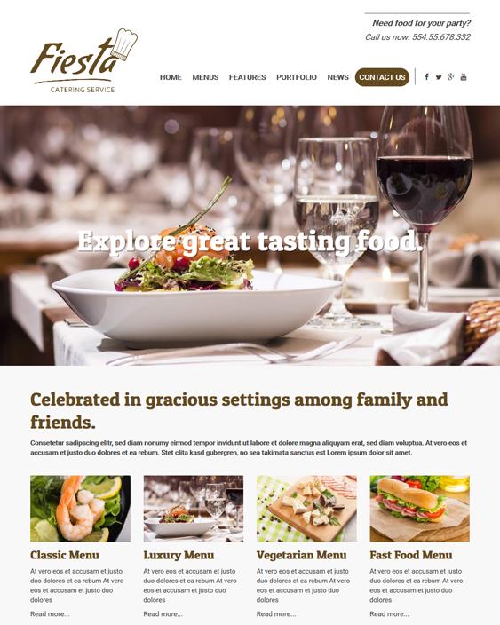 fiesta restaurant wordpress themes
