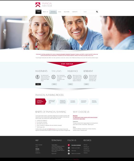 financial joomla templates 2