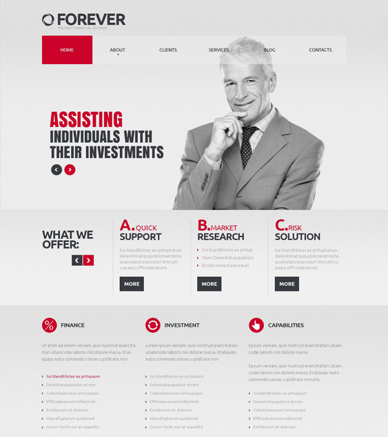 financial joomla templates 5