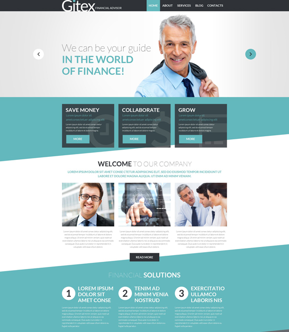 gitex financial joomla templates
