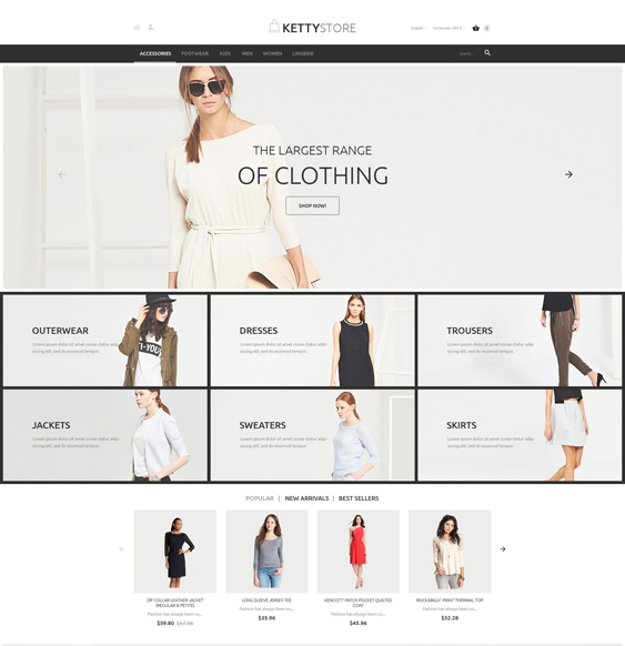 ketty store minimal magento themes