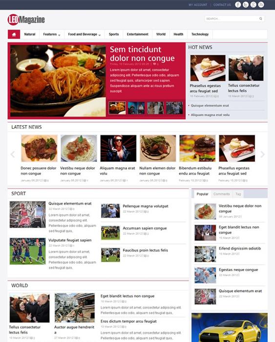 leo news magazine joomla templates