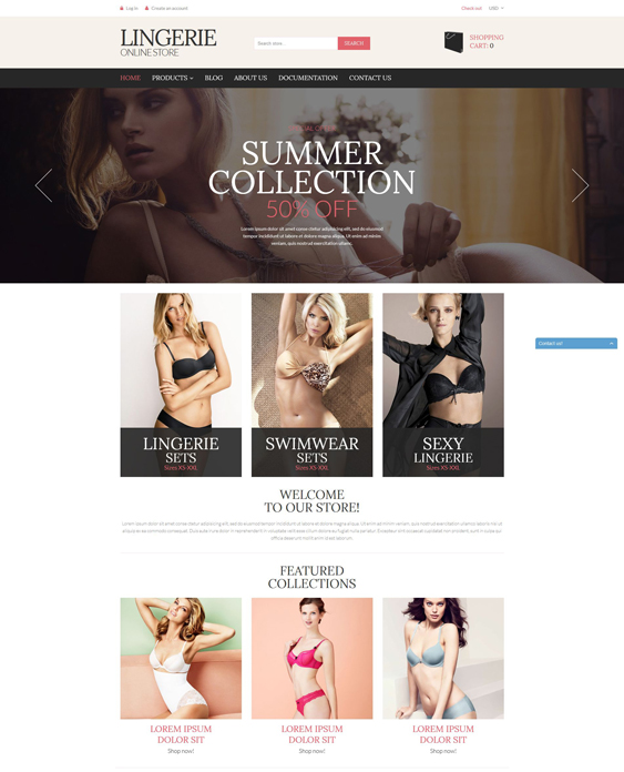 lingerie 1 shopify themes