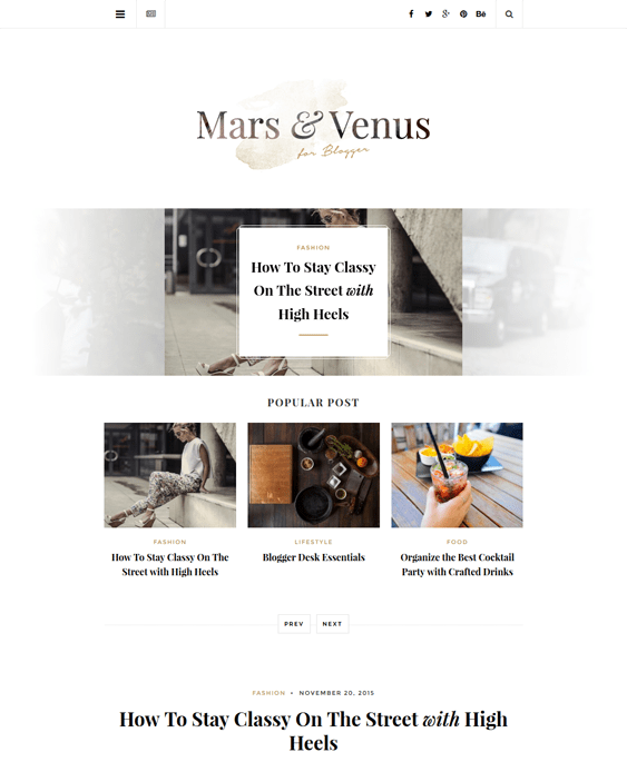 mars fashion blog wordpress themes