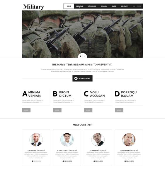 military minimal joomla templates