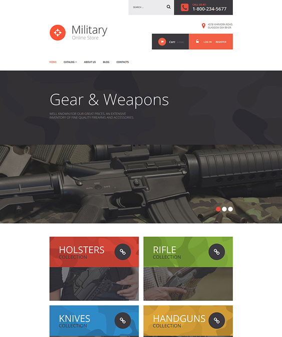 military responsive virtuemart themes