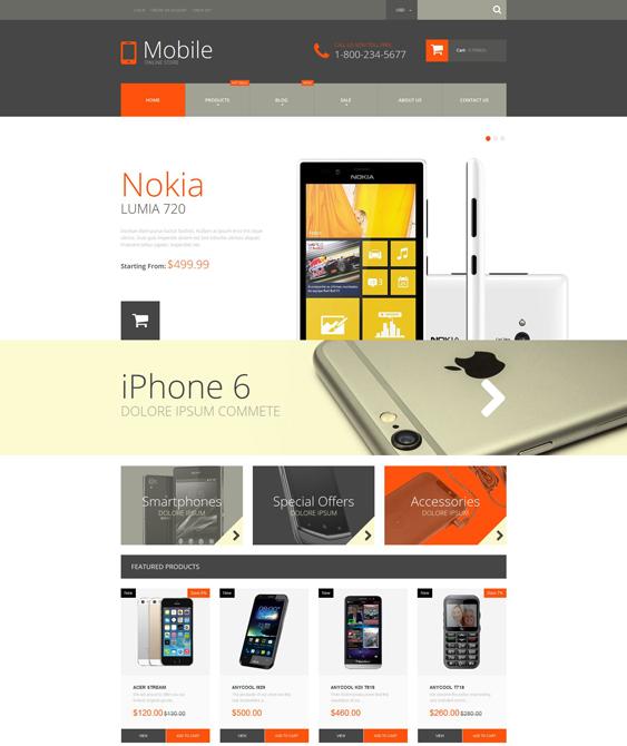 mobile electronics shopify themes