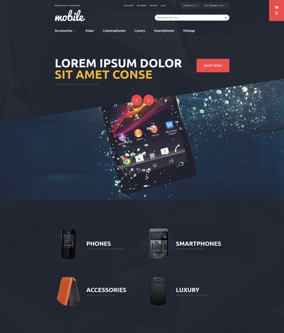 mobile magento themes electronic stores