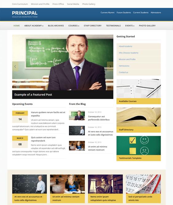 principal education wordpress themes