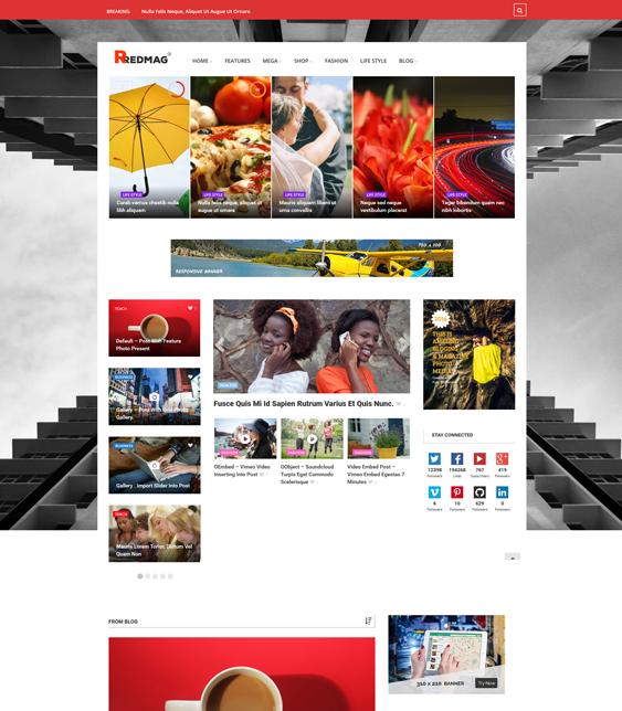 redmag news magazine wordpress themes