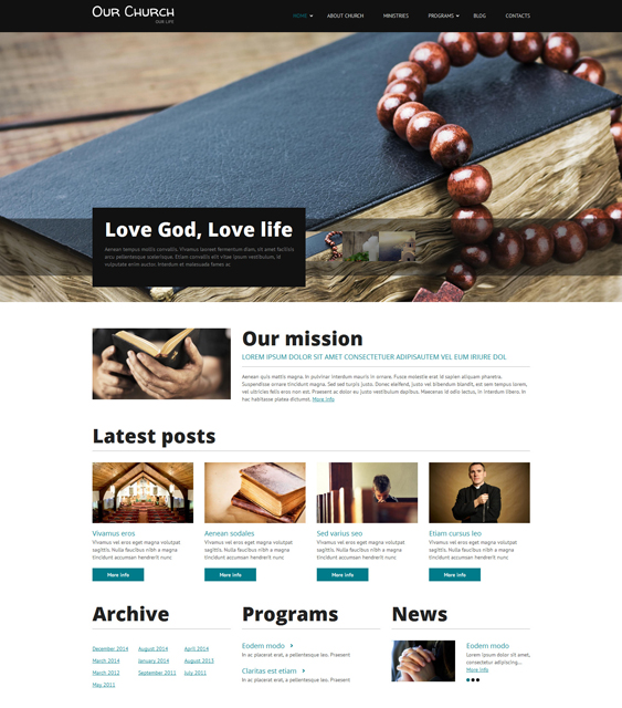 religious clean drupal themes