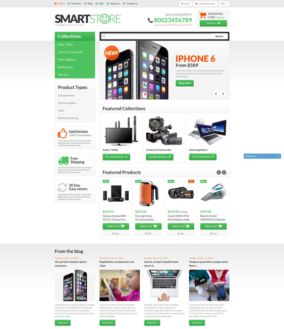 smart gear electronics shopify themes