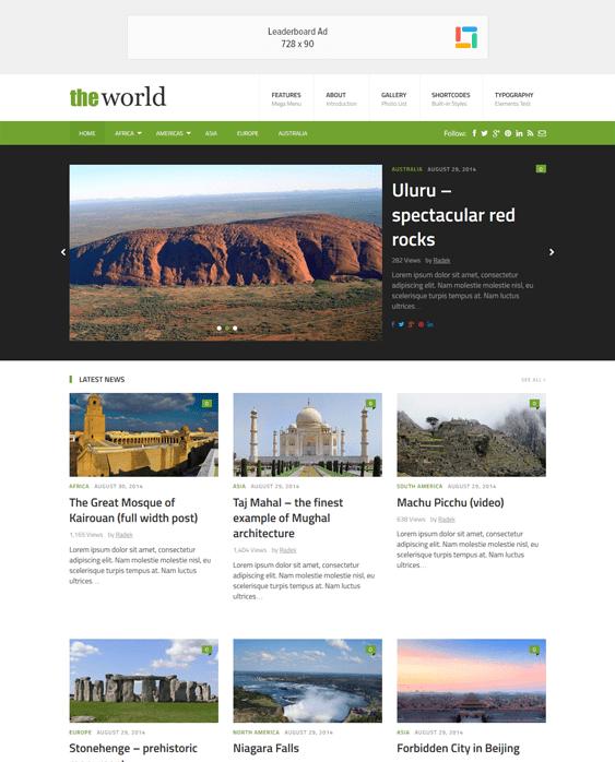 theworld news magazine wordpress themes